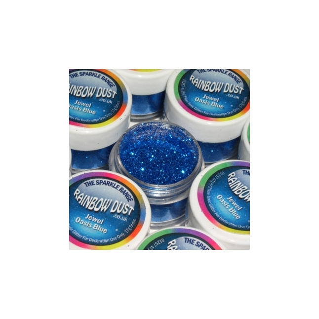 Purpurina decorativa Jewel Oasis Blue
