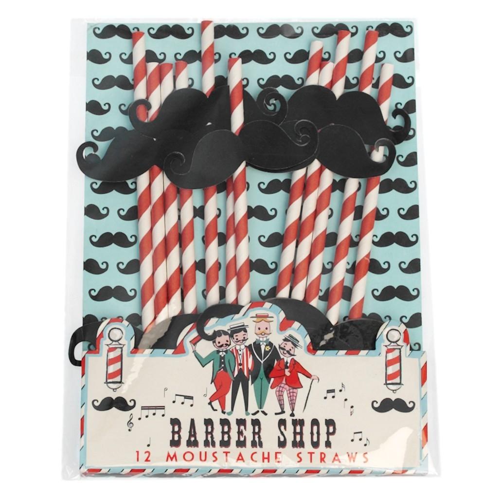 Set de 12 Pajitas Barber Shop