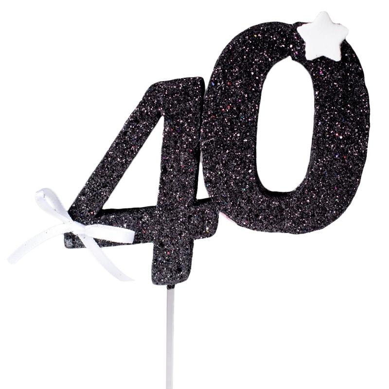 Decoración 40 Cumpleaños Negra