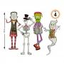 Decoración de Pared Personajes Halloween