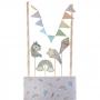 Decoración de unicornio para pastel formada por 6 piezas