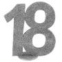 Decoración para Tarta 18 años plata 10 cm