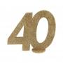 Decoración Para Tarta 40 años Oro 10 cm