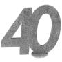 Decoración para Tarta 40 años plata 10 cm