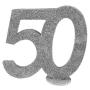 Decoración para Tarta 50 años plata 10 cm