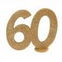 Decoración Para Tarta 60 años Oro 10 cm