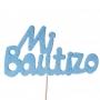 Decoración para Tartas Mi Bautizo Azul - My Karamelli