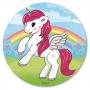 Disco de Azúcar Unicornio 20 cm