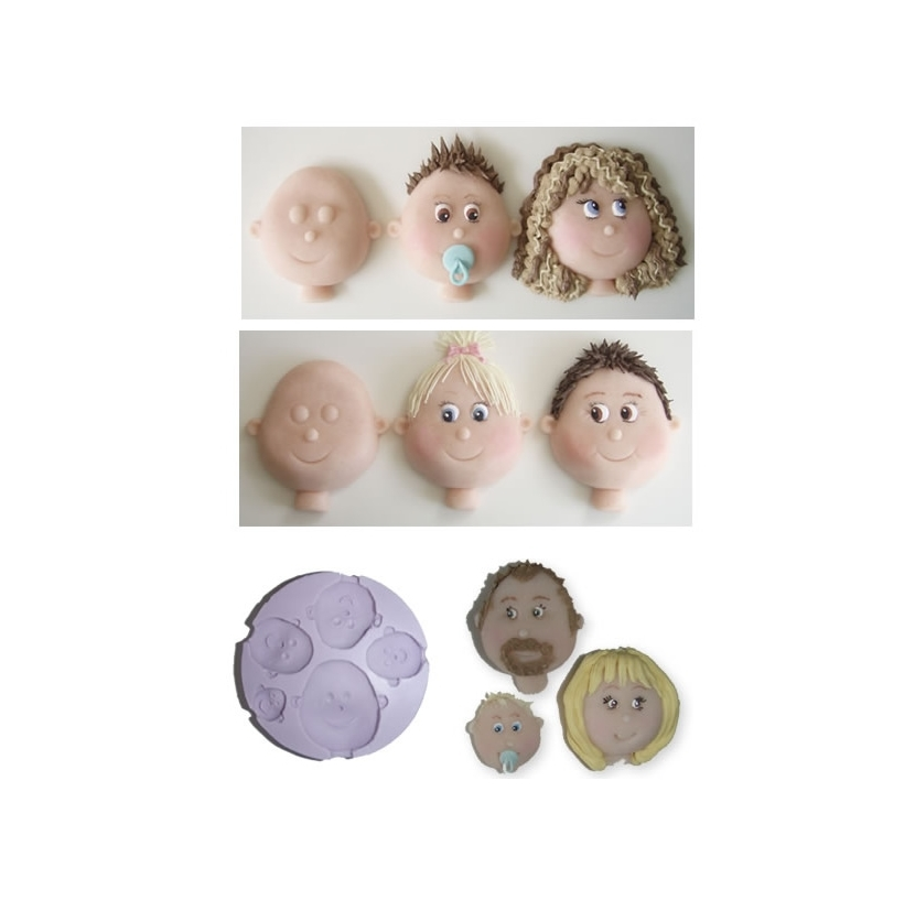 Face head moulds (5 tamaños diferentes)