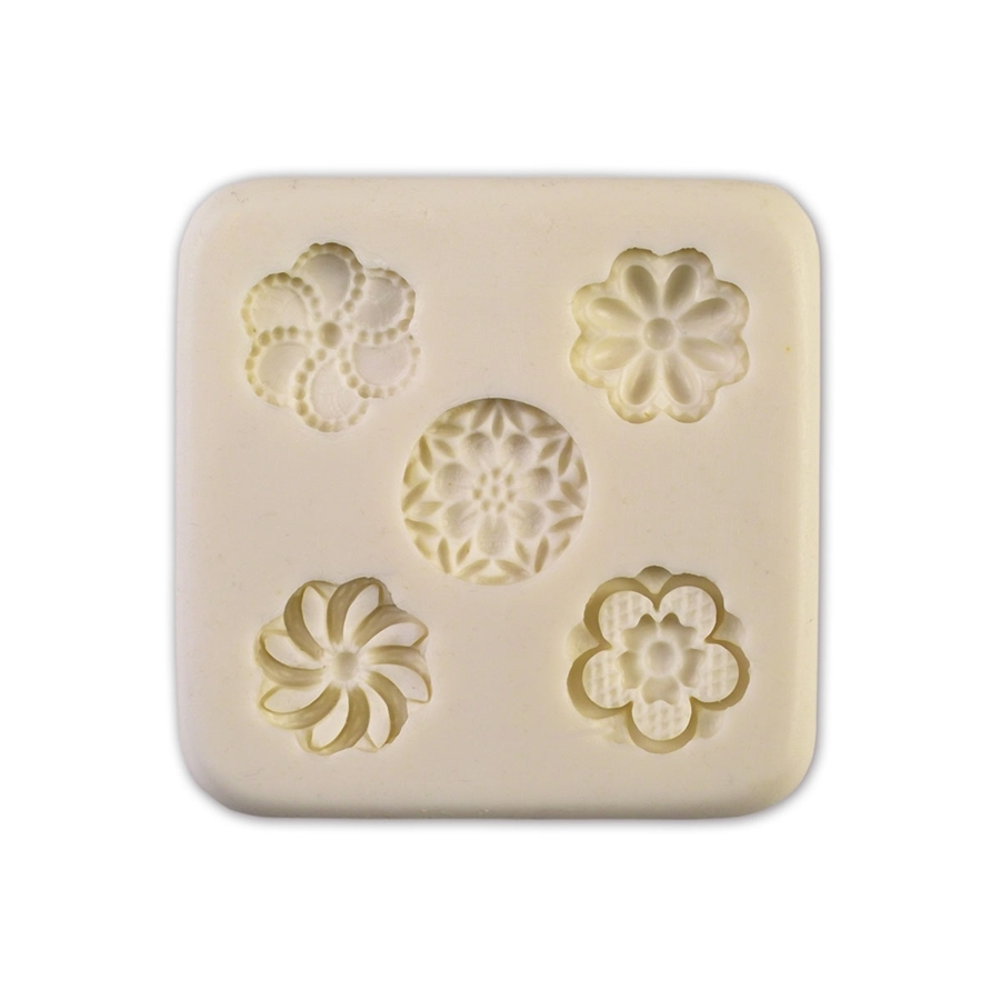 Molde de silicona para 5 florecillas