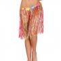 Falda hawaiana multicolor con cinturón de flores de colores