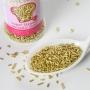 Fideos de azúcar oro metalizado