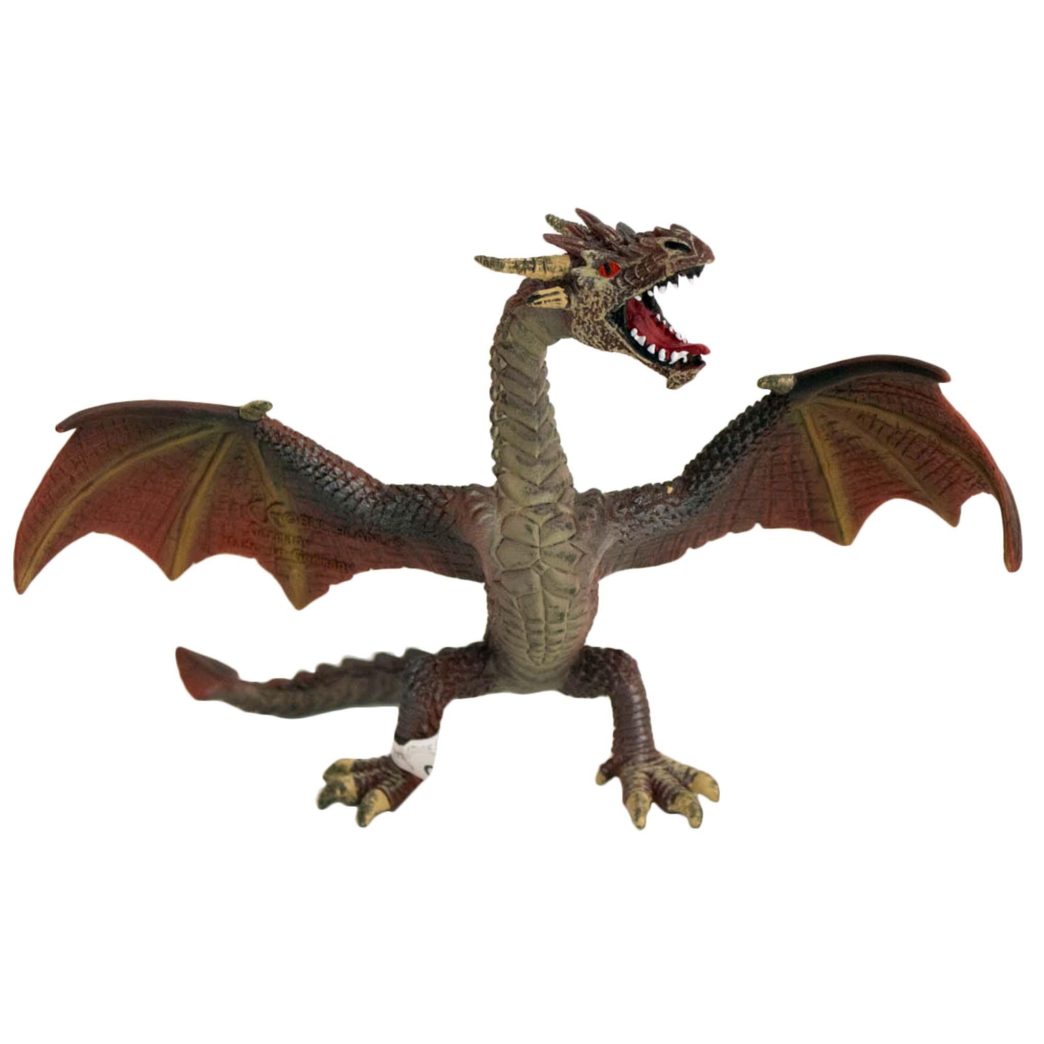 Figura para tarta Dragón con alas abiertas 15cm