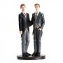 Figura para tarta pareja gay 19 cm