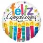 Globo Foil Velas Feliz Cumpleaños 45 cm