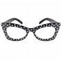 Gafas en Negro con Lunares Blancos
