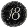 Globo 18 Cumpleaños Negro y Plata 45cm