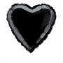 Globo de Foil Corazón Negro 45 cm