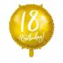 Globo de foil de 18 cumpleaños color Oro de 45 cm