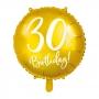 Globo de foil de 30 cumpleaños color Oro de 45 cm