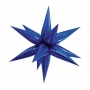 Globo Estrella Azul Metalizada 3D