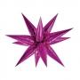 Globo Estrella Rosa Metalizado 3D