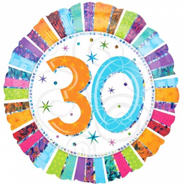 Globo Feliz 30 Cumpleaños