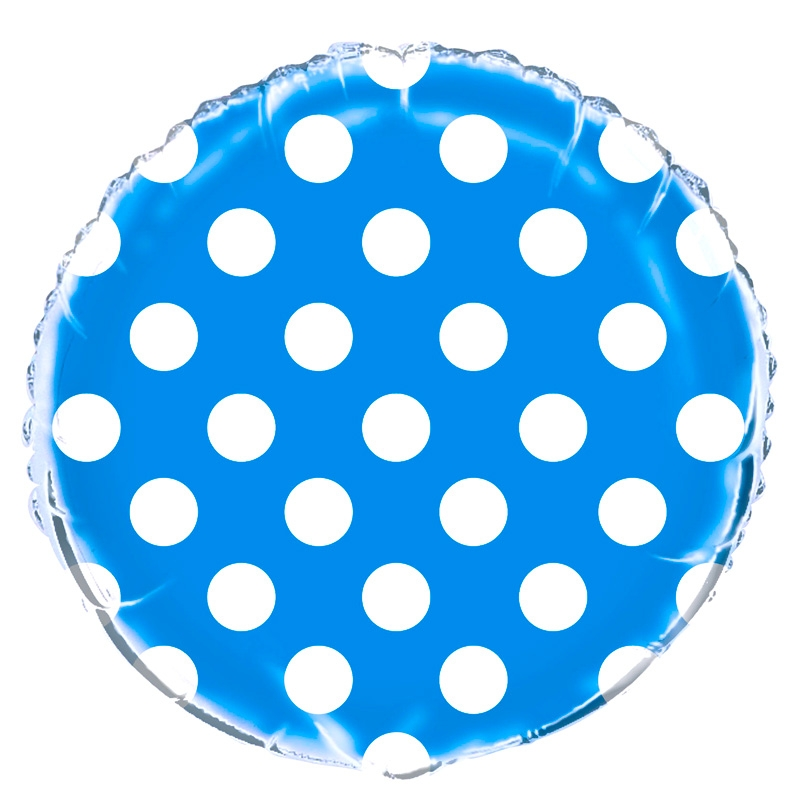 Globo Foil Azul con Lunares