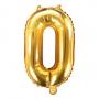 Globo Foil Número 0 Dorado 35 cm