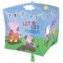 Globo Foil Peppa Pig Cubo 38 cm