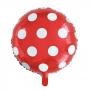 Globo Foil Rojo con Lunares