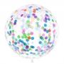 Globo Gigante Transparente Confeti 1 m