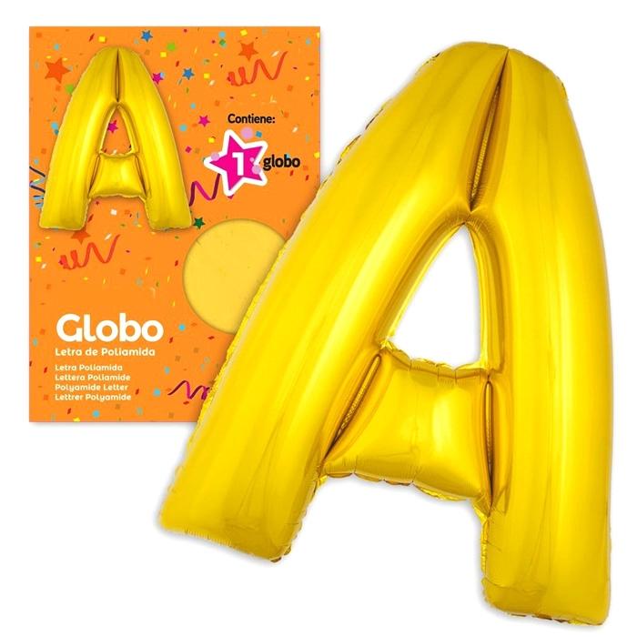 Globo Letra A dorado 1 Metro
