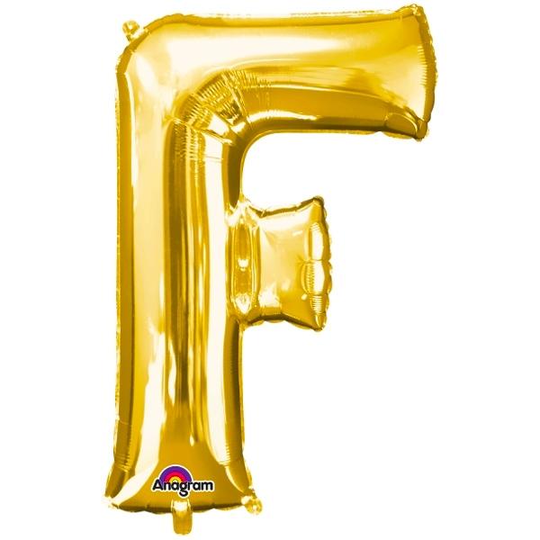 Globo Letra F 40 cm Dorado