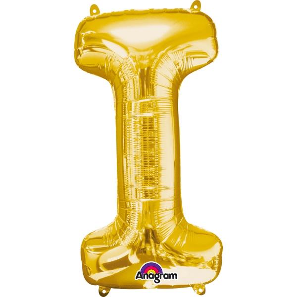 Globo Letra I 40 cm Dorado