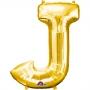 Globo Letra J 40 cm Dorado