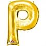 Globo Letra P 40 cm Dorado
