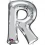 Globo letra R 40 cm plata