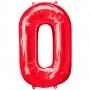 Globo Nº 0 Rojo 86 cm