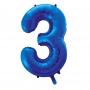 Globo Nº 3 Azul 86 cm