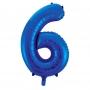 Globo Nº 6 Azul 86 cm