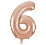 Globo Nº 6 Oro Rosado 86 cm