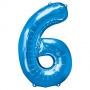 Globo Nº6 Azul 1m