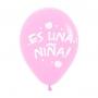 Pack de 10 globos de Nacimiento niña