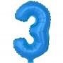 Globo Número 3 Azul 40cm - My Karamelli