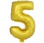 Globo Número 5 Dorado 40cm - My Karamelli