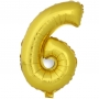 Globo Número 6 Dorado 40cm - My Karamelli