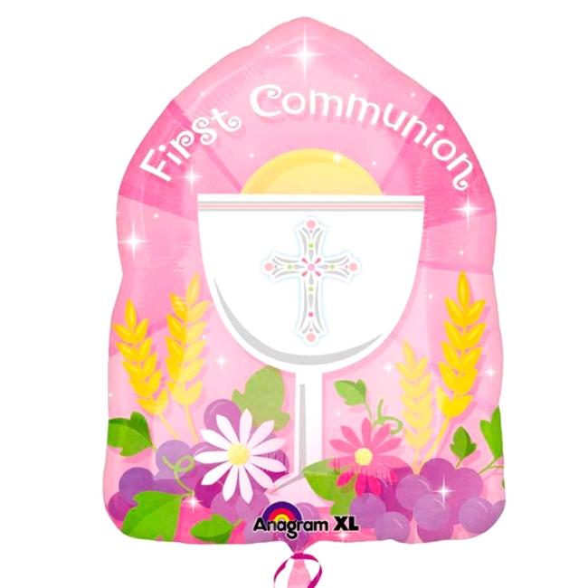 Globo Primera Comunión Rosa