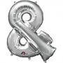 Globo símbolo & 40 cm plata