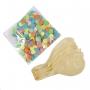 Globos Transpatrentes con Confeti Multicolor